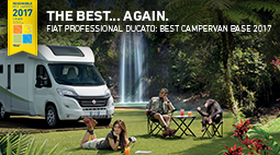 "Ducato named ""Best Motorhome Base Vehicle of the Year"" for the tenth time running"