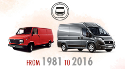 The legendary Ducato was born on October 23, 1981